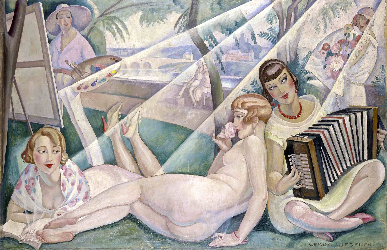 Gerda Wegener, En sommerdag, 1927. Foto © Bruun Rasmussen Kunstauktioner